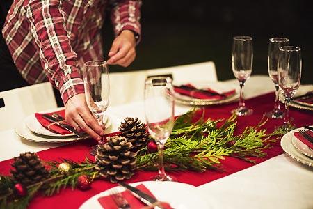 5 idées pour un chemin de table de Noël