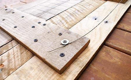 Tête de lit en bois de palette : Arrière Tête De Lit En Palette