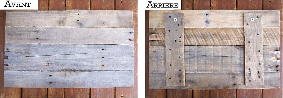Tête de lit en bois de palette : avant et arrière de la tête de lit