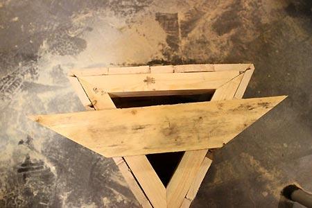 Triangle superieur jardiniere