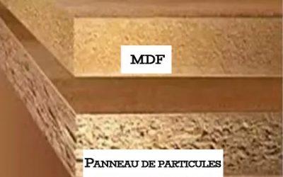 Panneau de particules vs MDF